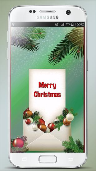 Screenshots des Programms Christmas Greeting Cards für Android-Smartphones oder Tablets.