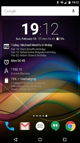 Screenshots of Chronus: Home & lock widgets program for Android phone or tablet.