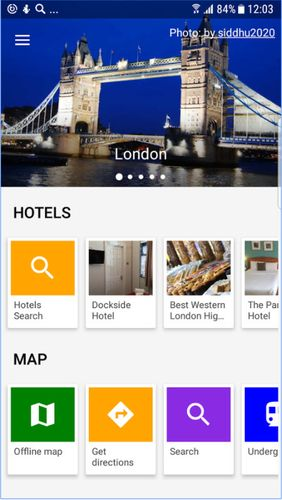 City guides offline app for Android, download programs for phones and tablets for free.