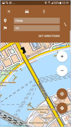 Screenshots des Programms City guides offline für Android-Smartphones oder Tablets.