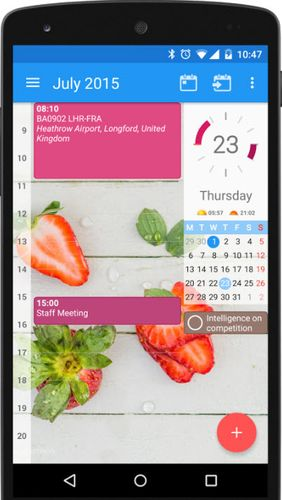 CloudCal calendar agenda app for Android, download programs for phones and tablets for free.