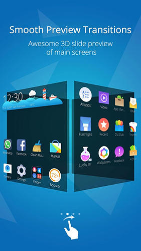 CM launcher app for Android, download programs for phones and tablets for free.