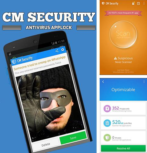 Besides AVG antivirus Android program you can download CM security: Antivirus applock for Android phone or tablet for free.
