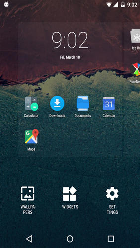 Niagara launcher: Fresh & clean app for Android, download programs for phones and tablets for free.