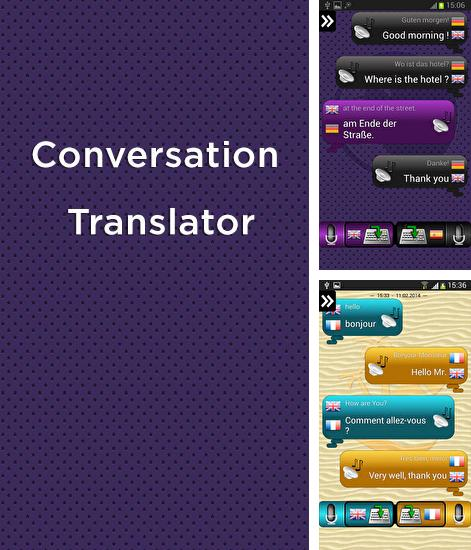 Además del programa ColorNote: Notepad & notes para Android, podrá descargar Conversation Translator para teléfono o tableta Android.