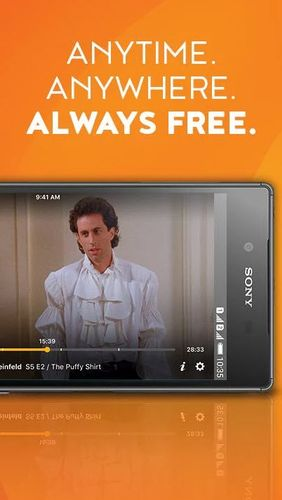 Screenshots of Crackle - Free TV & Movies program for Android phone or tablet.
