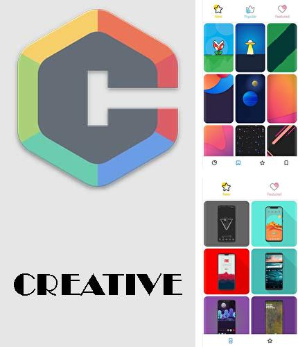 Besides Sense v2 flip clock and weather Android program you can download CREATIVE: Wallpapers, ringtones and homescreen for Android phone or tablet for free.