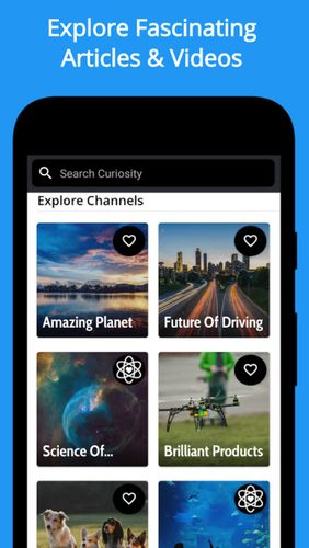 Curiosity app for Android, download programs for phones and tablets for free.