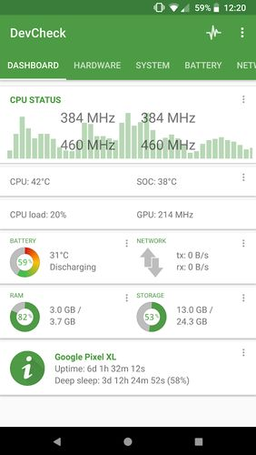 Download DevCheck: Hardware and System info for Android for free. Apps for phones and tablets.