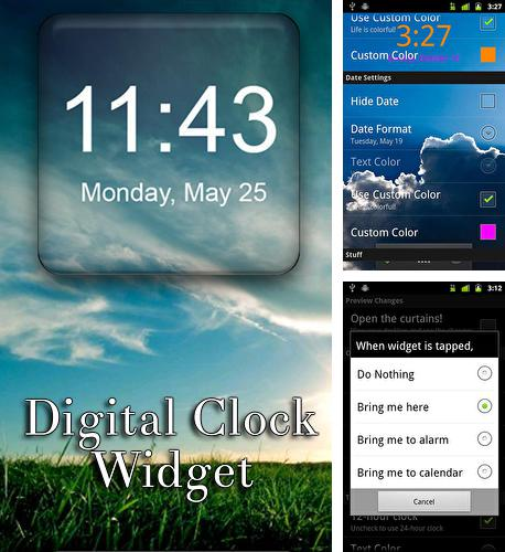 除了Magic locker Android程序可以下载Digital Clock Widget的Andr​​oid手机或平板电脑是免费的。