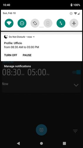 Capturas de pantalla del programa Do not disturb - Call blocker para teléfono o tableta Android.