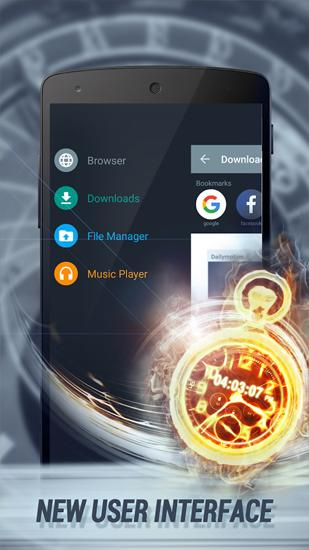 Capturas de pantalla del programa Download Manager para teléfono o tableta Android.