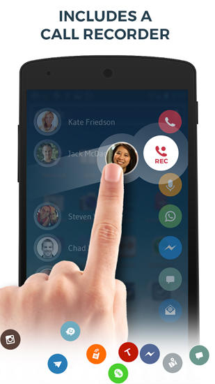 Drupe: Contacts and Phone Dialer app for Android, download programs for phones and tablets for free.