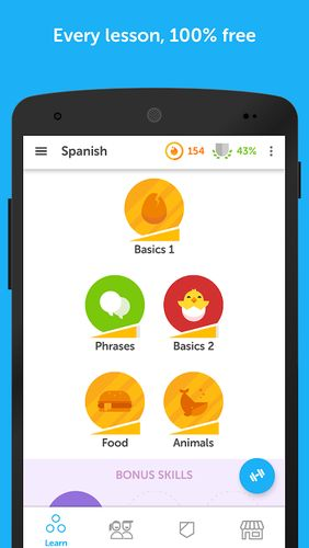 Duolingo: Learn languages free app for Android, download programs for phones and tablets for free.