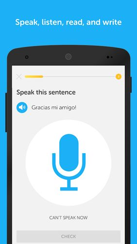 Screenshots des Programms Duolingo: Learn languages free für Android-Smartphones oder Tablets.