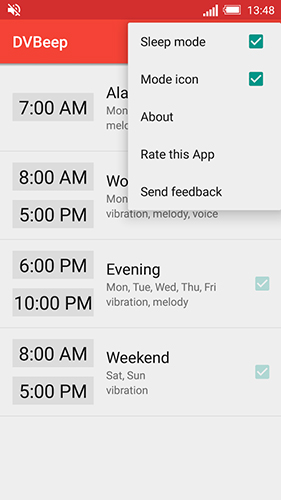 Speaking clock: DV beep app for Android, download programs for phones and tablets for free.