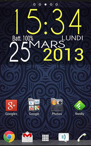 Screenshots des Programms Easy clock widget für Android-Smartphones oder Tablets.