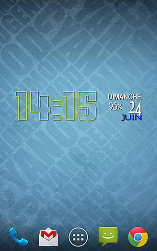 Les captures d'écran du programme Easy clock widget pour le portable ou la tablette Android.