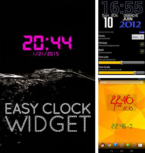 Download Easy clock widget for Android phones and tablets.