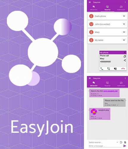 Besides KIVI remote Android program you can download EasyJoin for Android phone or tablet for free.
