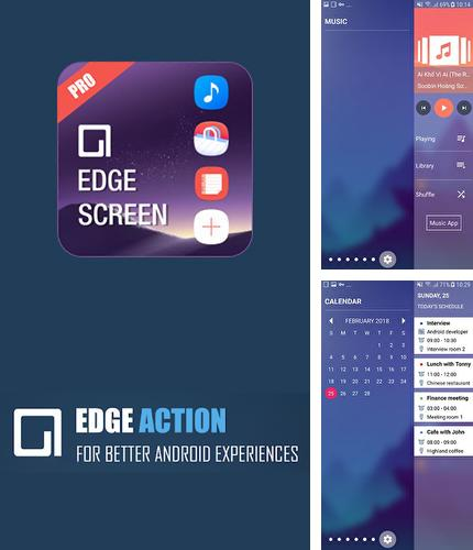 Outre le programme BeyondPod podcast manager pour Android vous pouvez gratuitement télécharger Edge screen: Sidebar launcher & edge music player sur le portable ou la tablette Android.