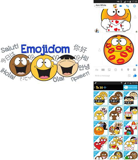 Besides Power Shade: Notification bar changer & manager Android program you can download Emojidom Smileys for Android phone or tablet for free.