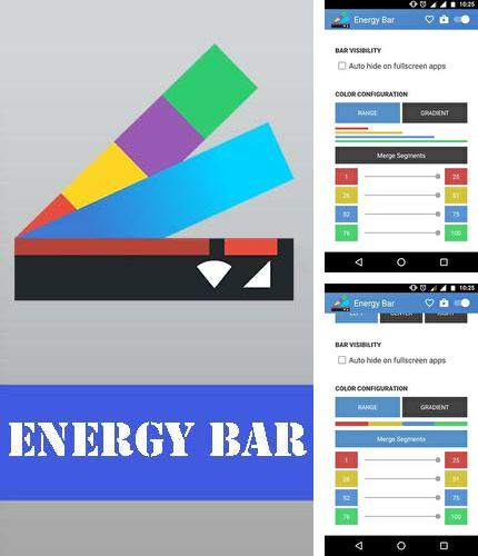 Descargar gratis Energy bar - A pulsating battery indicator para Android. Apps para teléfonos y tabletas.