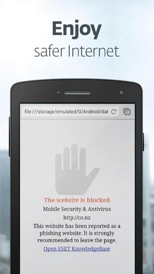 Screenshots of Ikarus: Mobile security program for Android phone or tablet.