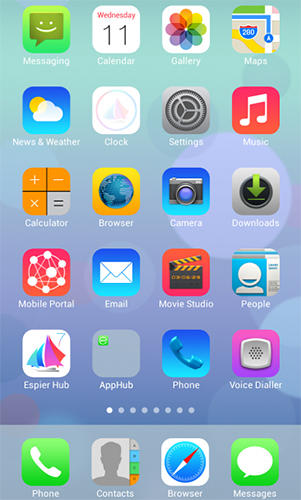 Espier launcher iOS7 for Android – download for free