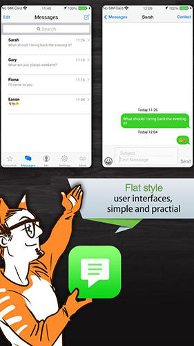 Capturas de pantalla del programa Espier Messages iOS 7 para teléfono o tableta Android.