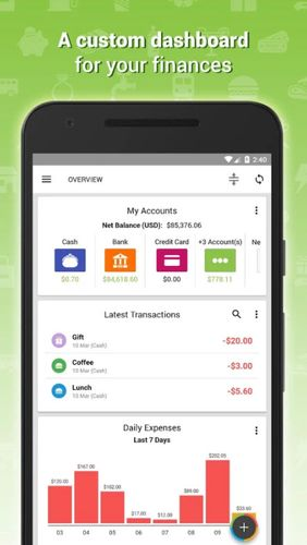 Expense IQ - Money manager app for Android, download programs for phones and tablets for free.