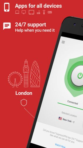 ExpressVPN - Best Android VPN app for Android, download programs for phones and tablets for free.