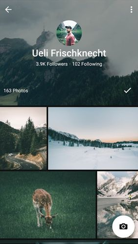 Les captures d'écran du programme EyeEm - Camera & Photo filter pour le portable ou la tablette Android.