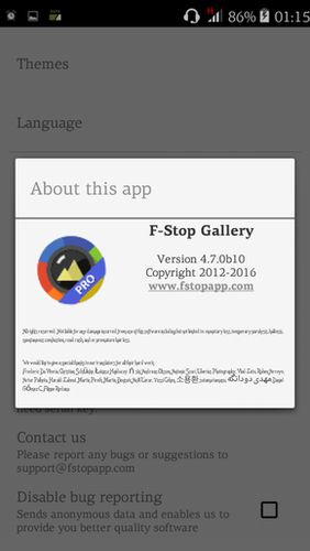 Screenshots of F-Stop gallery program for Android phone or tablet.