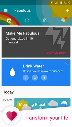 Fabulous: Motivate me app for Android, download programs for phones and tablets for free.