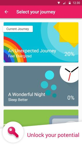 Screenshots of Fabulous: Motivate me program for Android phone or tablet.