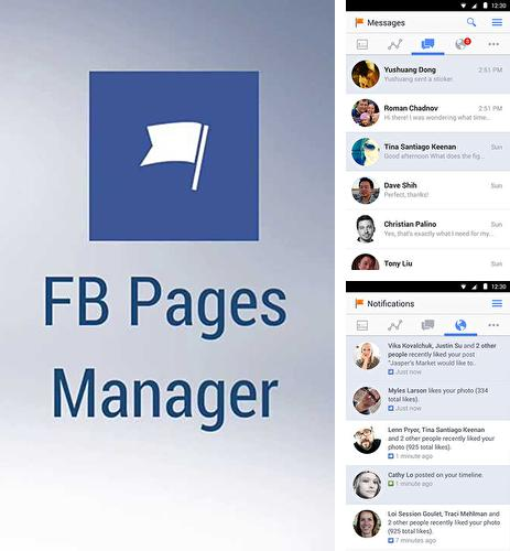 Besides QuickPic Gallery Android program you can download Facebook pages manager for Android phone or tablet for free.
