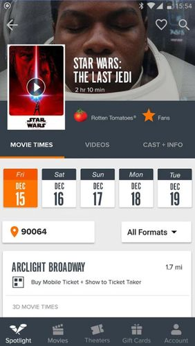 Download Fandango: Movies times + tickets for Android for free. Apps for phones and tablets.