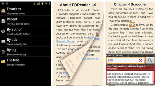 FBReader app for Android, download programs for phones and tablets for free.