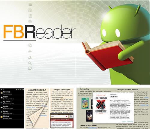 Besides Square home Android program you can download FBReader for Android phone or tablet for free.