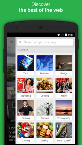 Capturas de tela do programa Feedly - Get smarter em celular ou tablete Android.