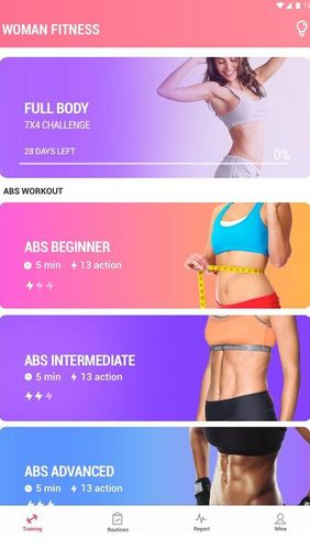 Descargar gratis Female fitness - Women workout para Android. Programas para teléfonos y tabletas.