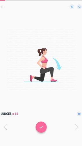Screenshots des Programms Female fitness - Women workout für Android-Smartphones oder Tablets.