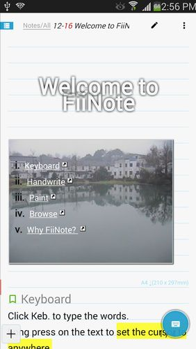 Download FiiNote: Note everything for Android for free. Apps for phones and tablets.