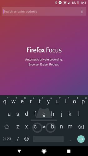 Descargar gratis Firefox focus: The privacy browser para Android. Programas para teléfonos y tabletas.