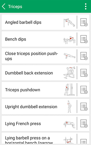Les captures d'écran du programme Fitness trainer fit pro sport pour le portable ou la tablette Android.