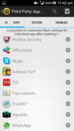 Flash blink app for Android, download programs for phones and tablets for free.