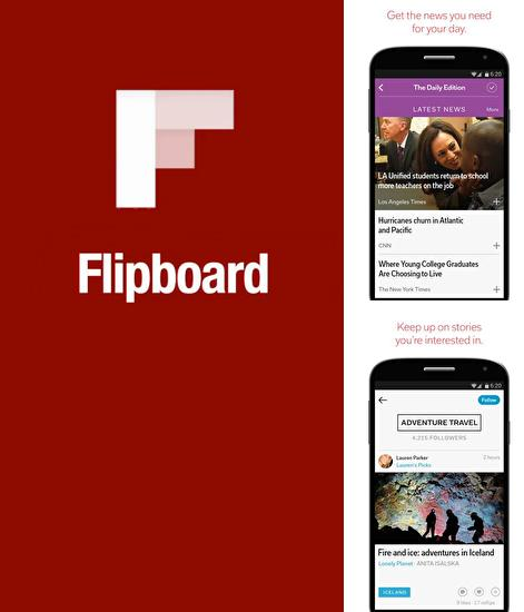 Besides Strava running and cycling GPS Android program you can download Flipboard for Android phone or tablet for free.