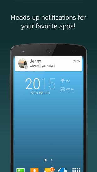 Screenshots of Floatify: Smart Notifications program for Android phone or tablet.