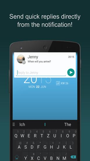 Screenshots des Programms Floatify: Smart Notifications für Android-Smartphones oder Tablets.